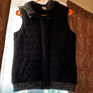 Soft vest with hood